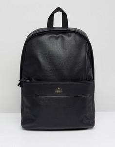 Черный рюкзак из искусственной кожи с блестящим тиснением ASOS DESIGN - Черный