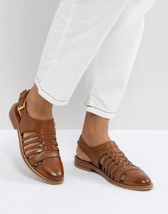 Кожаные туфли на плоской подошве ASOS MARYLEBONE - Рыжий