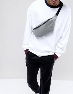 Черно-серая сумка-кошелек на пояс ASOS DESIGN - Черный
