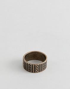 Золотистое кольцо с ацтекской отделкой ASOS DESIGN - Золотой