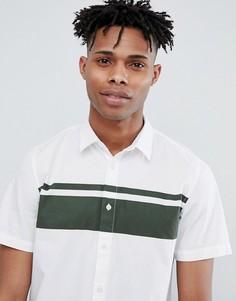 Рубашка с короткими рукавами и отделкой в полоску Only & Sons - Белый