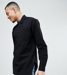 Oversize-рубашка с разрезами по бокам ASOS DESIGN Tall - Черный