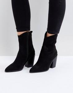 Ботинки в стиле вестерн ASOS ESLYN - Черный