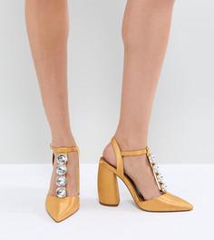Туфли на высоком каблуке ASOS PEACOCK - Желтый