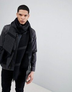 Шарф-накидка из жатой ткани ASOS DESIGN - Черный