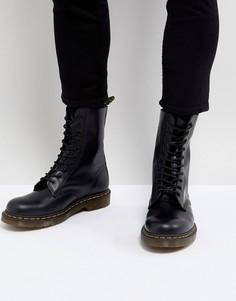 Черные ботинки с 10 парами люверсов Dr.Martens 1490 - Черный
