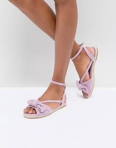 Сандалии-эспадрильи с бантиками ASOS JAYE - Фиолетовый