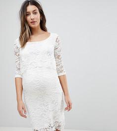 Кружевное платье для кормящих мам Mamalicious - Белый Mama.Licious