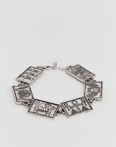 Серебристый браслет-цепочка ASOS DESIGN - Золотой