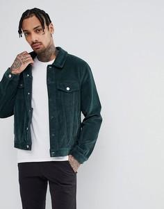 Зеленая вельветовая куртка в стиле вестерн ASOS DESIGN - Зеленый