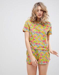 Пижамный комплект с шортами ASOS - Мульти