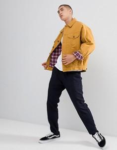 Свободная джинсовая куртка в клетку ASOS DESIGN - Желтый