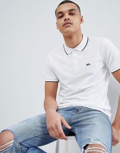 Белая футболка-поло с контрастным воротником Lindbergh - Белый