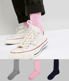 3 пары фактурных носков ASOS DESIGN - Мульти