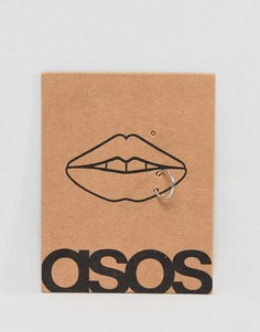 Кольцо для пирсинга губы из нержавеющей стали ASOS DESIGN - Серебряный