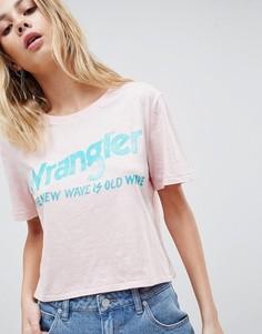 Укороченная футболка с логотипом Wrangler - Розовый