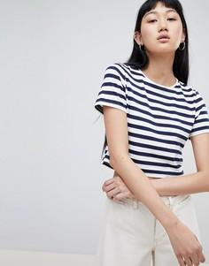 Короткая футболка в полоску ASOS DESIGN - Мульти