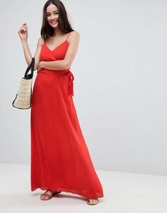 Платье макси с запахом ASOS - Красный