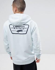 Худи синего цвета с принтом на спине Vans Full Patched VA2WF7689 - Синий
