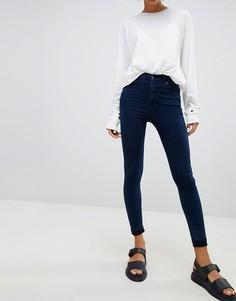 Супероблегающие джинсы с завышенной талией Dr Denim Moxy - Синий