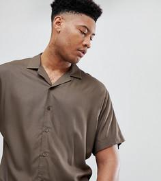Свободная рубашка из вискозы цвета хаки ASOS DESIGN tall - Зеленый