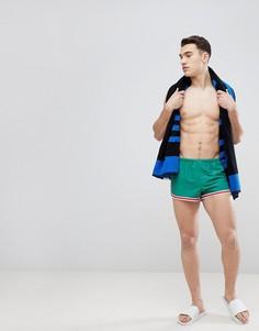 Зеленые короткие шорты для плавания ASOS - Зеленый