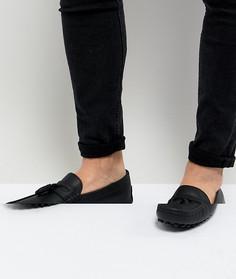 Черные кожаные мокасины с кисточками ASOS DESIGN - Черный