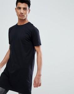 Длинная футболка ASOS DESIGN - Черный