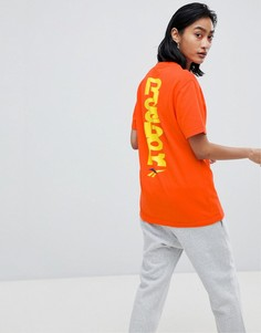 Футболка с контрастным логотипом Reebok - Оранжевый