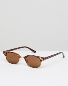 Солнцезащитные очки в стиле ретро с черепаховой оправой ASOS DESIGN - Коричневый
