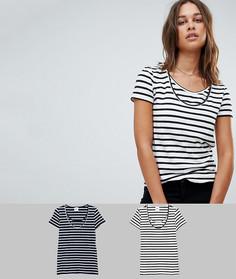 Набор из 2 футболок в полоску для кормящих мам Mamalicious - Мульти Mama.Licious