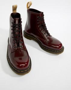 Красные ботинки с 8 парами люверсов Dr.Martens 1460 - Красный