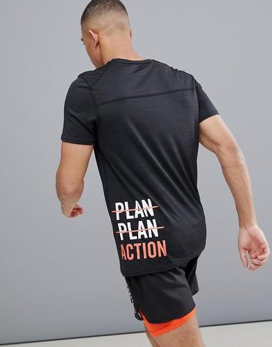 Черная футболка с логотипом сбоку FIRST Training - Черный