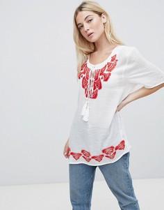 Туника с вышивкой Brave Soul Woodstock - Красный