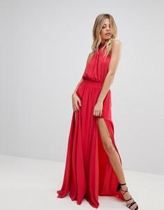 Платье макси с разрезом The Jetset Diaries Shale - Красный