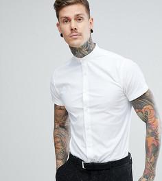 Приталенная рубашка с короткими рукавами и воротником на пуговице Heart & Dagger - Белый