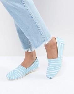 Туфли в полоску TOMS - Синий