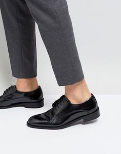 Черные блестящие туфли дерби Base London Rexley - Черный