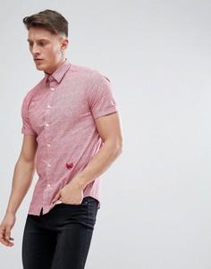 Красная рубашка с короткими рукавами Diesel S-VENETY - Красный
