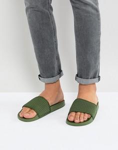 Шлепанцы цвета хаки 7x - Зеленый