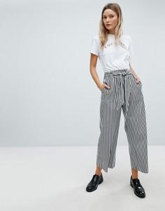 Широкие брюки в полоску In Wear - Черный