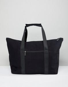Черная парусиновая дорожная сумка Mi-Pac Carryall - Черный