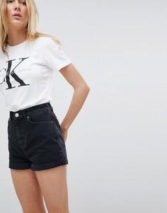 Черные выбеленные джинсовые шорты в винтажном стиле ASOS DESIGN - Черный