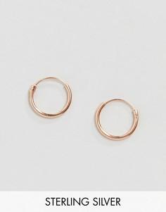 Серьги-кольца из позолоченного серебра ASOS DESIGN - 12 мм - Розовый