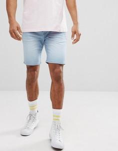 Светлые джинсовые шорты скинни Solid - Синий
