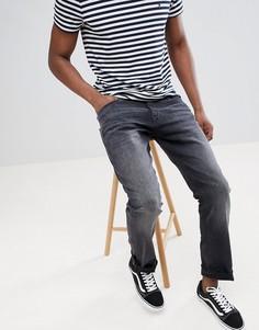 Черные прямые джинсы из органического хлопка Esprit - Черный