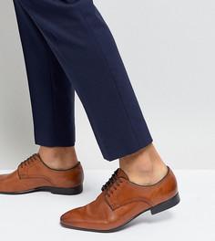 Светло-коричневые строгие туфли для широкой стопы Silver Street - Рыжий