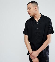 Черная oversize-рубашка из вискозы ASOS DESIGN Tall - Черный