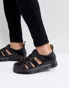 Черные сандалии Dr Martens Vibal Closed - Черный