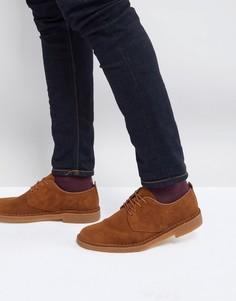 Замшевые туфли Clarks Originals Desert London - Коричневый